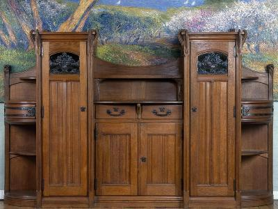 Art Nouveau Style Welsh Dresser, Part of Dining Room Set, 1905-1908-Henri Bellery-desfontaines-Giclee Print