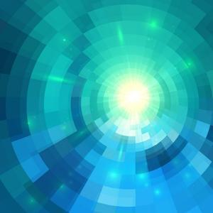 Abstract Blue Shining Circle Tunnel Vector Background by art_of_sun
