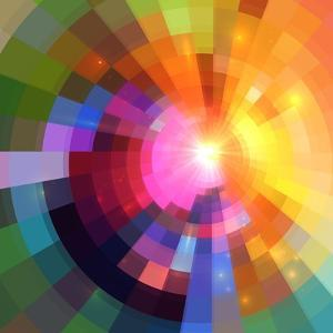 Abstract Colorful Shining Circle Tunnel Background by art_of_sun