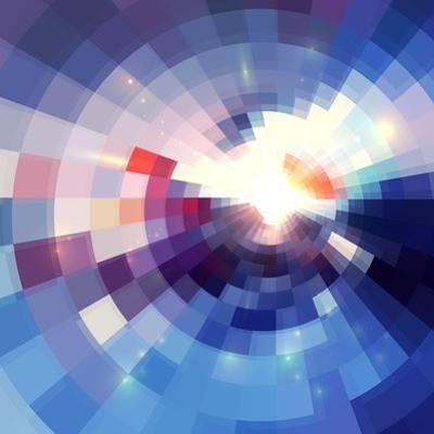 Abstract Violet Shining Circle Tunnel Background by art_of_sun