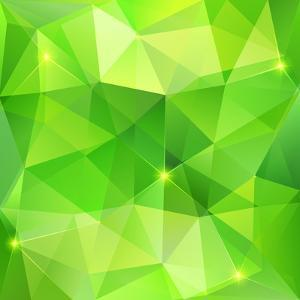 Green Abstract Crystal Vector Background by art_of_sun