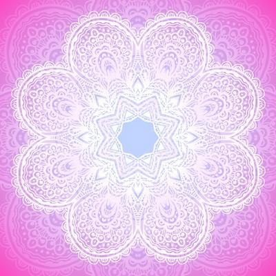 Indian Ornament, Mandala in Pink