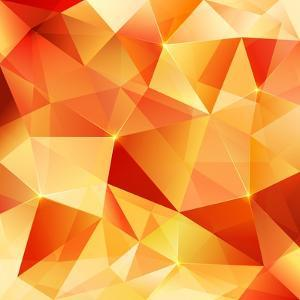 Orange Crystal Vector Abstract Pattern by art_of_sun