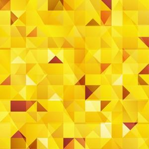 Yellow Triangles Seamless Pattern by art_of_sun