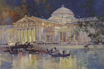 Art Palace at Night--Giclee Print