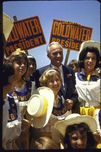 Arizona Sen. Barry Goldwater Campaignigg for Republican Presidential Nomination by Art Rickerby