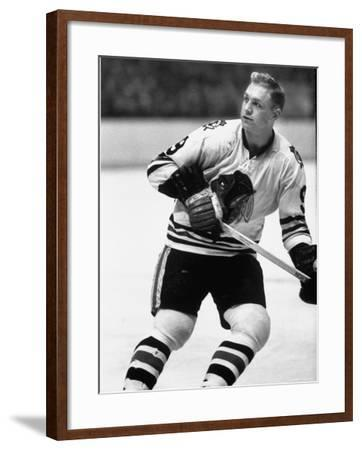 Chicago Black Hawk Ice Hockey Player Bobby Hull During Game