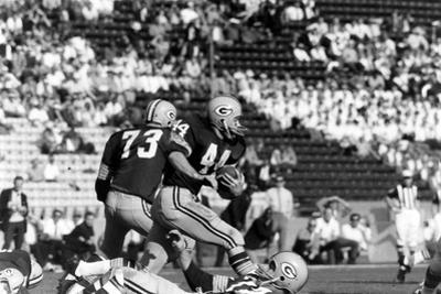 Donny Anderson #44 of Greenbay Packers,Super Bowl I, Los Angeles, California January 15, 1967 by Art Rickerby