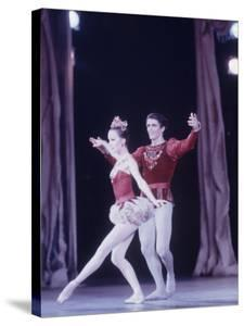 """Edward Villella Dancing """"Rubies"""" Sequence with Patricia Mcbride in Balanchine's Ballet """"The Jewels"""" by Art Rickerby"""