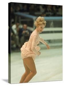 Figure Skater Janet Lynn Performing at 1968 Olympic Games by Art Rickerby