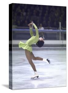 Figure Skater Peggy Fleming Competing in the Olympics by Art Rickerby