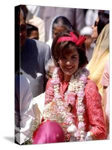 First Lady Jackie Kennedy Arriving at the Jaipur Airport During Her Tour of India by Art Rickerby