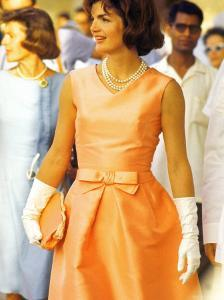 First Lady Jackie Kennedy, Walking Through Crowd in Udaipur During a Visit to India by Art Rickerby