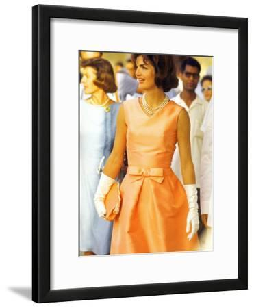 First Lady Jackie Kennedy, Walking Through Crowd in Udaipur During a Visit to India