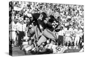 Green Bay Packer Elijah Pitts at Super Bowl I, Los Angeles, California, January 15, 1967 by Art Rickerby