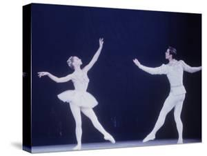 """Jaques D'Amboise Dancing """"Diamonds"""" Sequence with Suzanne Farrell, Balanchine's Ballet """"The Jewels"""" by Art Rickerby"""