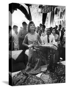 Mrs. Jacqueline Kennedy on Tour in India by Art Rickerby