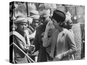 Mrs. John F. Kennedy During Her Tour of Pakistan by Art Rickerby