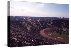 Opening Ceremony View of the Track and Field Stadium of the 1964 Tokyo Summer Olympics, Japan by Art Rickerby