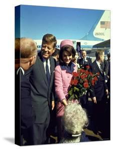 Pres. John F. Kennedy and Wife Jackie Arriving at Love Field, Campaign Tour with VP Lyndon Johnson by Art Rickerby