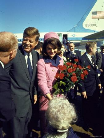 Pres. John F. Kennedy and Wife Jackie Arriving at Love Field, Campaign Tour with VP Lyndon Johnson