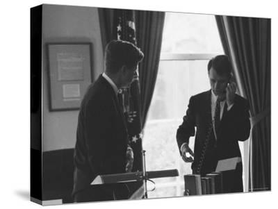 President John F Kennedy and Brother, Attorney General Robert F. Kennedy During the Steel Crisis