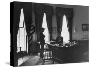 President John F. Kennedy at Time of the Crisis over the Raise in Steel Prices by Art Rickerby