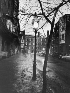 Rainy Beacon Hill St at Dusk During Series of Boston Stranglings by Art Rickerby