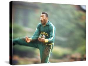 Soccer Star Pele in Action During Practice Prior to World Cup Competition by Art Rickerby