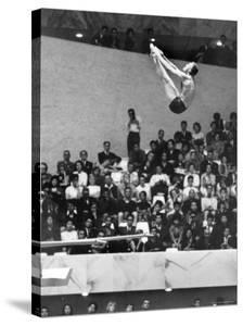 U.S. Platform Diver Frank Gorman Competing in Olympics by Art Rickerby
