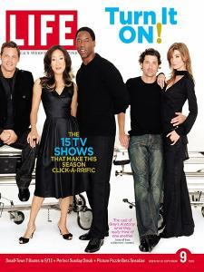 Grey's Anatomy Cast: J. Chambers, S. Oh, I. Washington, P. Dempsey and E. Pompeo, September 9, 2005 by Art Streiber