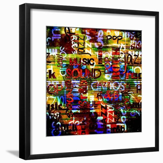 Art Urban Graffiti Raster Background-Irina QQQ-Framed Premium Giclee Print