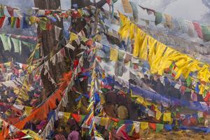 Colorful Flags, Bhutan by Art Wolfe