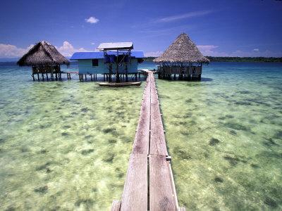 Restaurant Over the Water, Bocas del Toro Islands, Panama