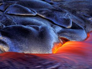 Volcanic Eruption, Volcanoes National Park, Kilauea, Big Island, Hawaii, USA by Art Wolfe