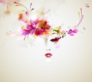 Beautiful Fashion Women With Abstract Design Elements by artant