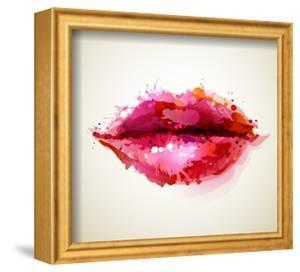 Beautiful Woman's Lips Formed By Abstract Blots by artant