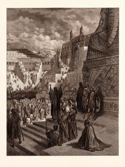 Artaxerxes Granting Liberty to the Jews-Gustave Dore-Giclee Print