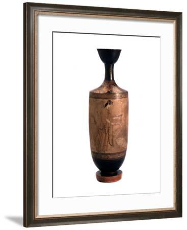 Artemis with a Swan. Lekythos, White-Ground, C490 Bc--Framed Photographic Print