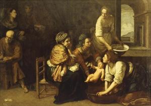 Birth of St. John the Baptist, 1633-1635 by Artemisia Gentileschi