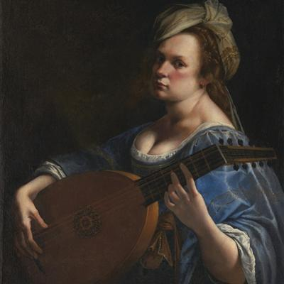 Self-Portrait as a Lute Player by Artemisia Gentileschi