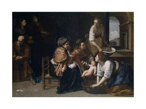 The Birth of Saint John the Baptist by Artemisia Gentileschi
