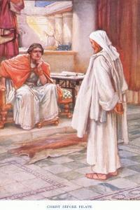Christ before Pilate by Arthur A. Dixon