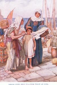 Dorcas Giving Help to a Poor Widow by Arthur A. Dixon