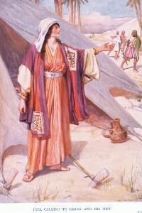 Jael Calling to Barak and His Men by Arthur A. Dixon