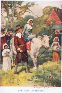 John Alden and Priscilla by Arthur A. Dixon