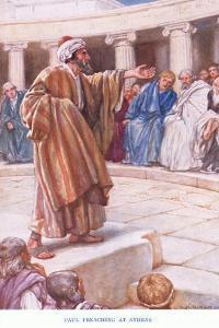 Paul Preaches at Athens by Arthur A. Dixon