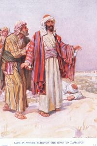 Saul Is Struck Blind on the Road to Damascus by Arthur A. Dixon