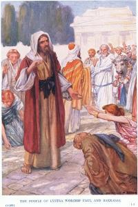 The People of Lystra Worship Paul and Barnabus by Arthur A. Dixon