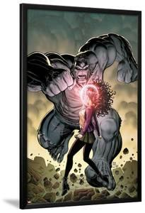 Ultimate X No.5 Cover: Jean Grey and Hulk Fighting by Arthur Adams